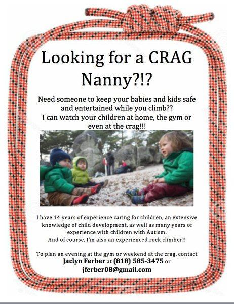 Rock Climbing Photo: Crag Nanny
