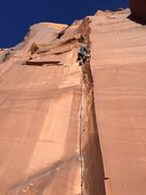 Rock Climbing Photo: Pulling down not out.. Ashley having fun on a cris...