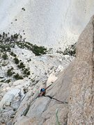 Rock Climbing Photo: Amy Ness following the splitter towards the wild h...