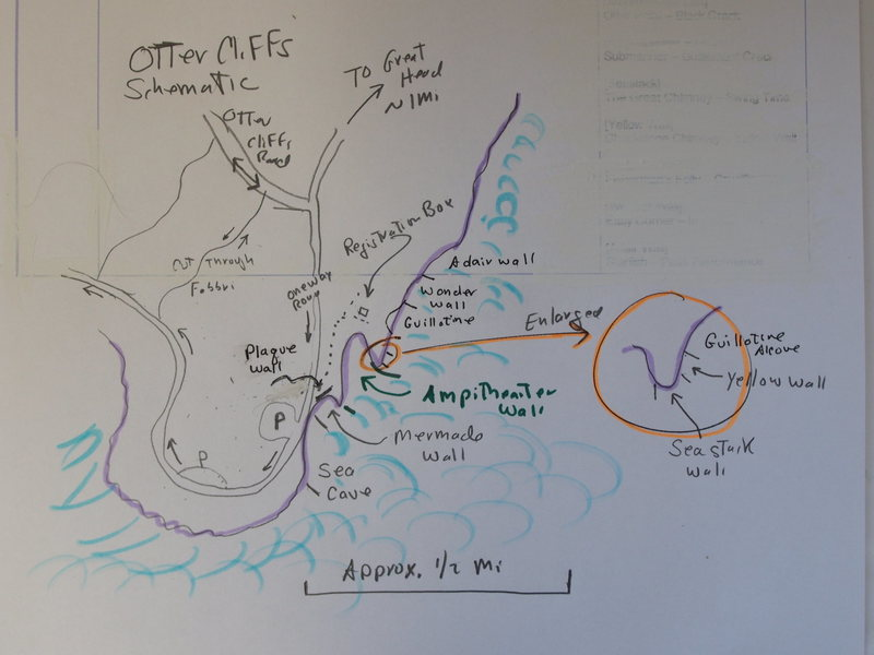 "Location Sketch for Otter Cliffs ""Sub-Areas"""