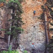 Rock Climbing Photo: Todd Smith leading Zen Fen