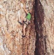 Rock Climbing Photo: Me climbing up Devil's route