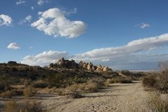 Rock Climbing Photo: This is the wash you will cross on the way to the ...