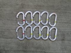 Rock Climbing Photo: BD oval wire gate biners $3.00 each 10 biners