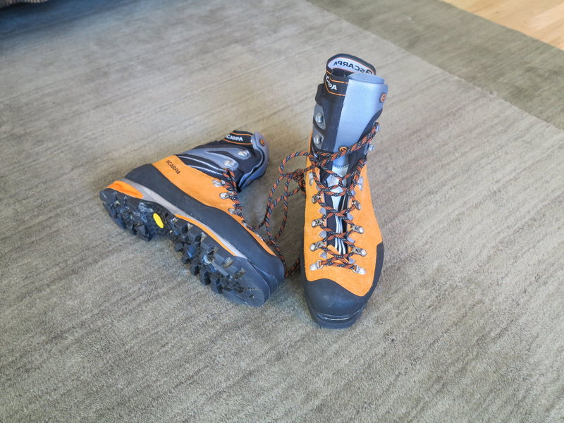 Scarpa Mont Blanc PRO size 45 used 2 mornings ice climbing  like new condition Awesome climbing boot SOLD