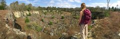 Rock Climbing Photo: Panoramic of the rear quarry.