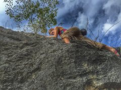 Rock Climbing Photo: Looking up one of the rear walls, from the base of...