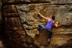 Rock Climbing Photo: Making moves on Latin for Daggers