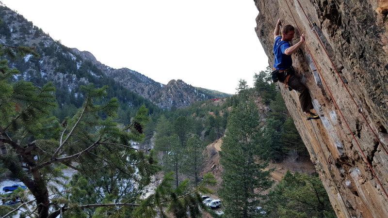 Rock Climbing Photo: Seth crushing The Web.