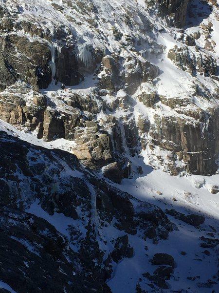 Rock Climbing Photo: Grace Falls below Notchtop East Face.