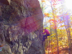 Rock Climbing Photo: Tequila Sunrise?  At any rate, a real fun climb!