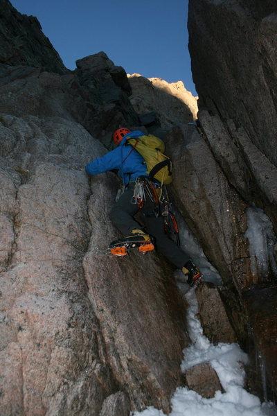 Rock Climbing Photo: First pitch of Martha on Mt. Lady Washington.