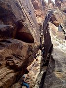 Rock Climbing Photo: Can't remember the names of the two routes, but no...