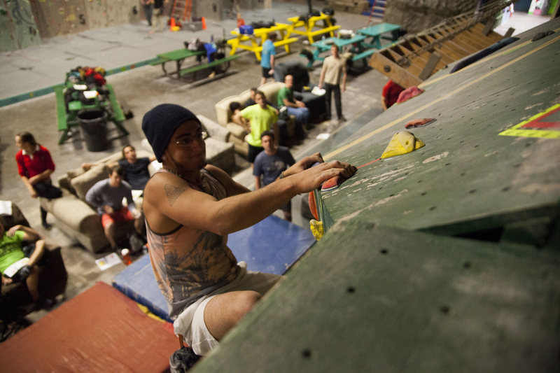 Rock Climbing Photo: Cleveland Rock Gym - photo cred Kevin Knallay