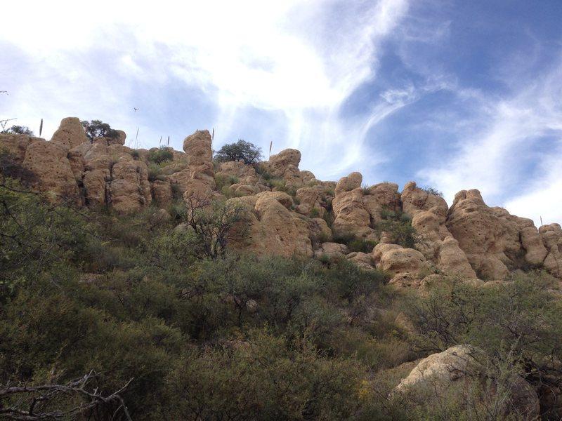 More boulders.