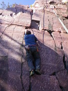 Rock Climbing Photo: Nick about to use the hole