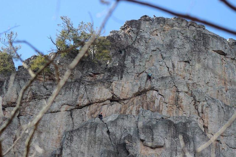 Getting on Solar, Seneca Rocks, WV