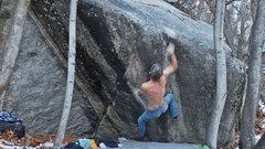 Rock Climbing Photo:    Hucking for the lip....