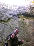 Rock Climbing Photo: Nick after completing Spiders from Mars