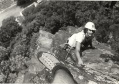 Rock Climbing Photo: Paul Clancy, Rob Savoye (foot), Maryland Heights (...