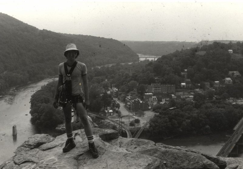 Scott McClurg. The classic Harpers Ferry photo. (Rob Savoye collection)
