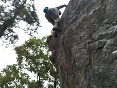 Rock Climbing Photo: Topping out on Check My Footwork