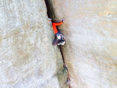 Rock Climbing Photo: love this route!