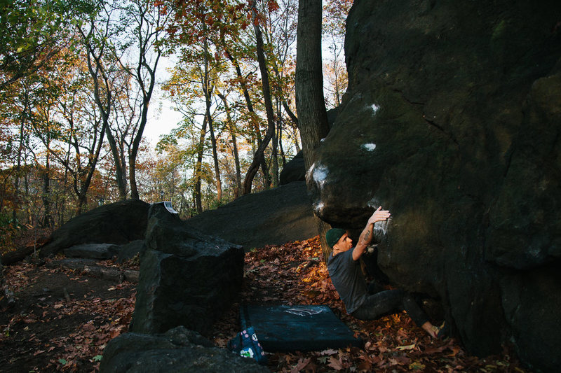 Rock Climbing Photo: Pile Driver V4 - North Central Park