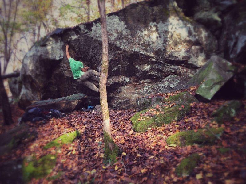 """Falling on a Dirty Mattress"" on Boulder #6"