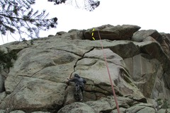 Rock Climbing Photo: Brian giving it a go.