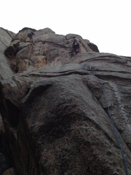 Rock Climbing Photo: Lew getting it done.