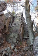 Rock Climbing Photo: The little wall with the route Nobleese Oblige fou...