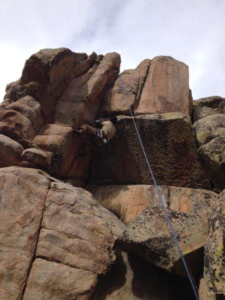Rock Climbing Photo: A tough move.
