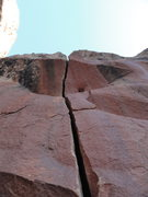 Rock Climbing Photo: looking up from the base of the route.