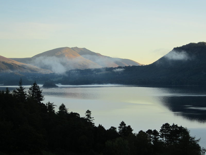 Dawn over Derwentwater Lake District