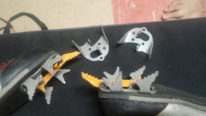 Used Black Diamond Raptor crampons