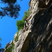 Rock Climbing Photo: Mike Arechiga on, Boneheads. 5.10b super fun route...
