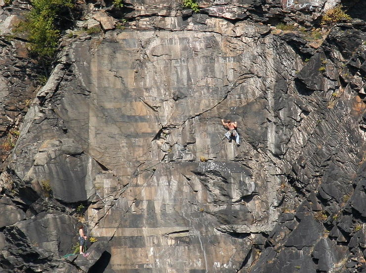 Rock Climbing Photo: Not sure if the guy in this pic is off-route but h...