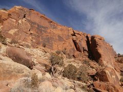 Rock Climbing Photo: The first wall visible from the trail.  Darkness T...