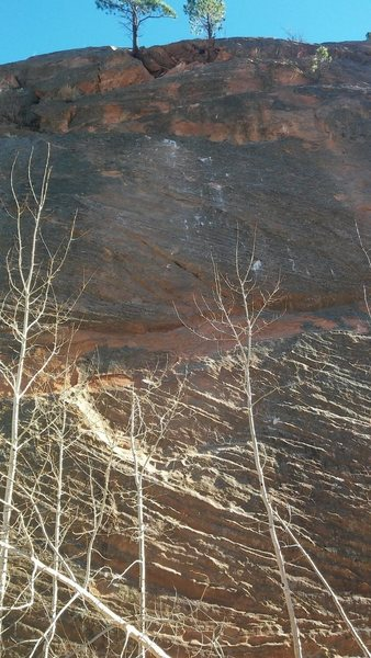 Scars on Eddyline and Current Event from rockfall 11/17/2015.