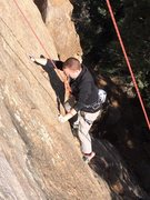 Rock Climbing Photo: My Brother beginning Reality Check at Silver Casca...