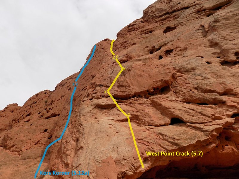 West Point Crack, and a little bit of Kor's Korner at South Gateway Rock