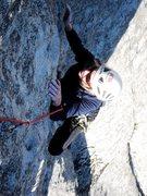 Rock Climbing Photo: Finishing up Conejito.