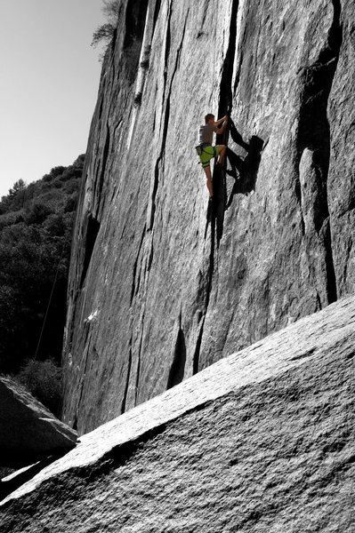 Rock Climbing Photo: Climbing outer limits in yosemite