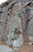 Rock Climbing Photo: route Rock Romancer in Tower Wall area of Powerlin...