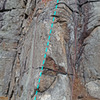 route Rock Romancer in Tower Wall area of Powerlinez