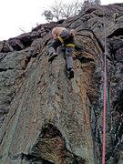 Rock Climbing Photo: Brian Sundermann on first ascent of Rock Romancer