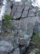 Rock Climbing Photo: Right Side of Ben Wall - approx 35 ft high. The sl...
