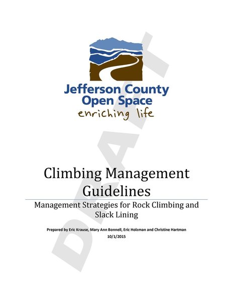 Draft JeffCo Climbing Management Guidelines P1