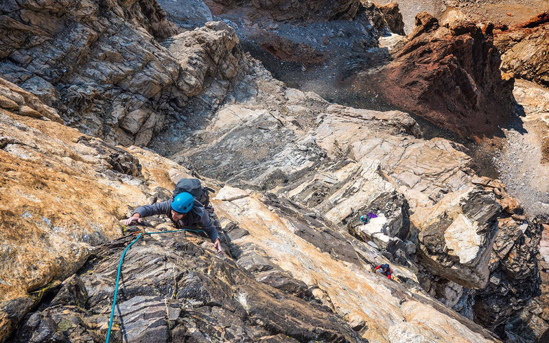 Rock Climbing Photo: brendan levine on the black face, september 13, 20...